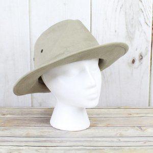 STETSON Wide Brim Safari Fedora Hat Size Large